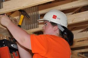 Volunteering with Habitat for Humanity, August 2014.